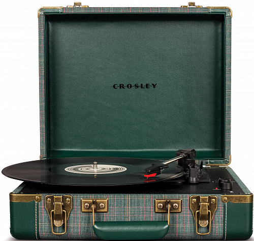 Виниловый проигрыватель CROSLEY EXECUTIVE PORTABLE c Bluetooth Pine Needle